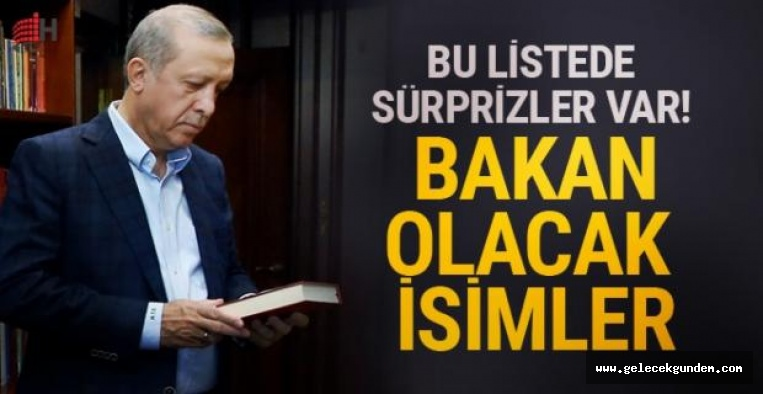 AKP 'DE YENİ BAKANLAR LİSTESİ SIZDI!
