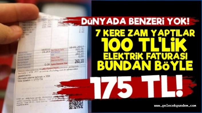 100 TL'lik Elektrik Faturası 175 TL Oldu! AKP İktidarı halkını korumuyor ,Elektrik Şirketlerini koruyor!