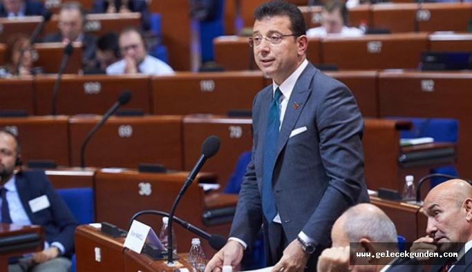 Ekrem İmamoğlu Strasburg'da konuştu: 'Kayyum konusundaki uygulamaya karşıyım'