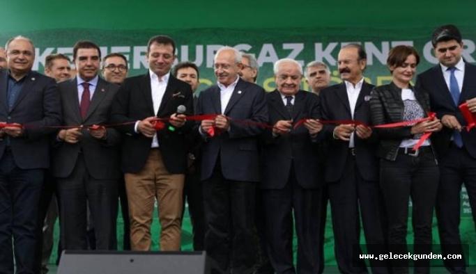 Kılıçdaroğlu ve İmamoğlu Kemerburgaz Kent Ormanı'nın açılışını yaptı