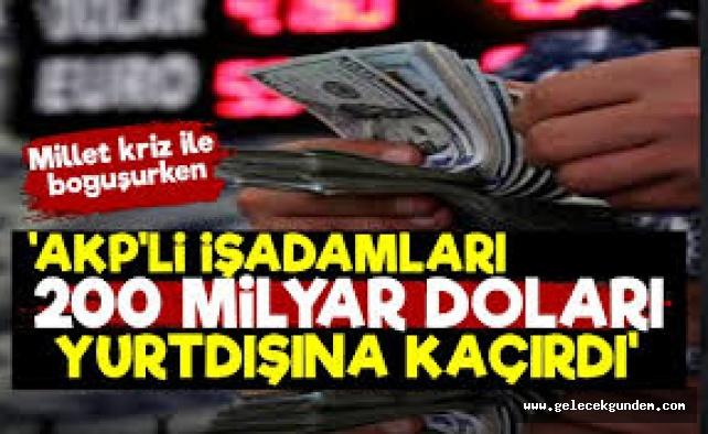 'AKP'li İşadamları 200 Milyar Dolar Kaçırdı'