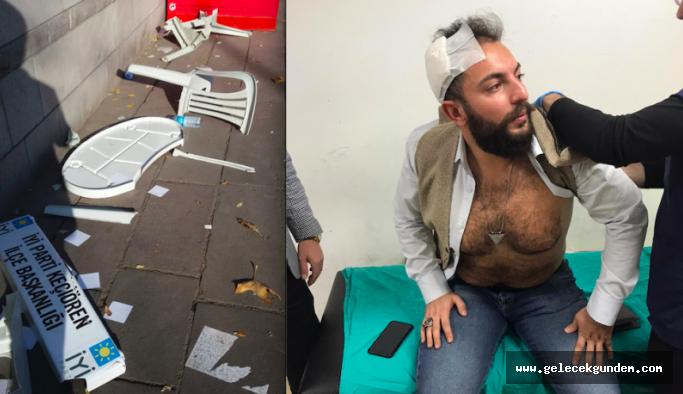 İYİ Parti standına saldırı: İlçe başkanı yaralandı