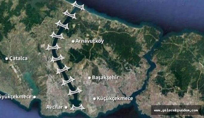 AKP Hükümeti Kanal İstanbul'da ÇED süreci tamamlanmadan planları  değiştirdi