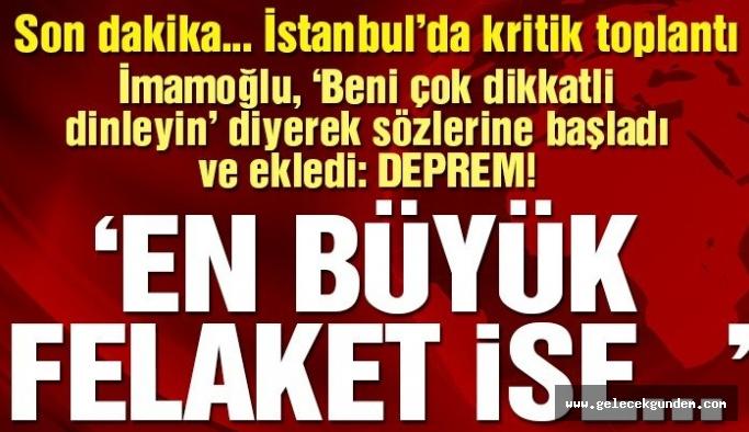 Ekrem İmamoğlu'ndan Kanal İstanbul için çarpıcı  açıklamalar!
