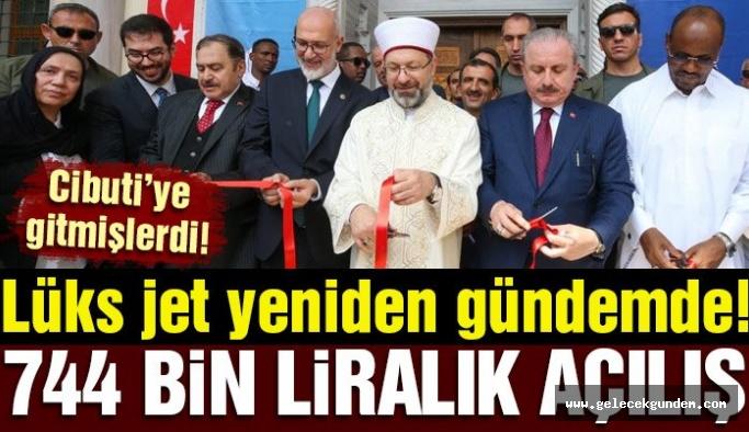 Şentop, Erbaş ve Eroğlu, 744 bin liralık yolculukla cami açılışına katıldı!