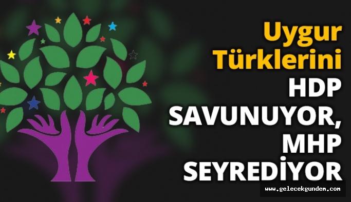 Uygur Türklerini HDP SAVUNUYOR, MHP SEYREDİYOR