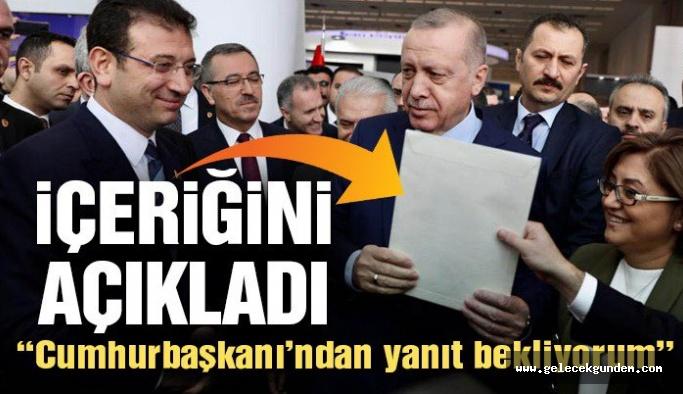 """Son Dakika! İmamoğlu, Erdoğan'a sunduğu mektubun içeriğini açıkladı: """"Cevabını İstanbul halkı adına bekliyorum"""""""