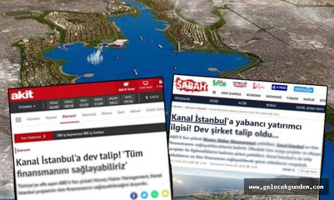 Kanal İstanbul'a talip olan 'ABD'li dev şirket' hayal ürünü çıktı!
