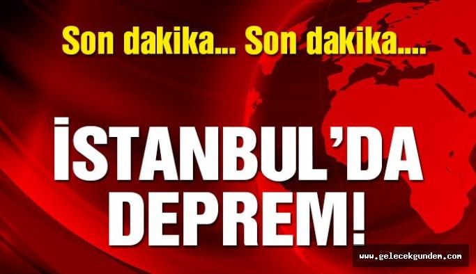 Son dakika! İstanbul'da deprem…