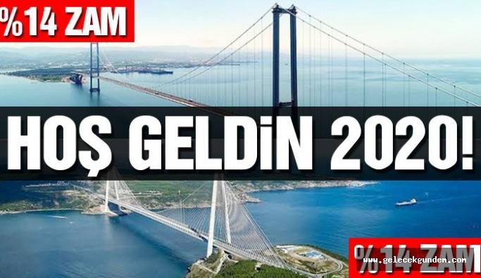 Son dakika: Yavuz Sultan Selim ve Osmangazi köprülerine zam