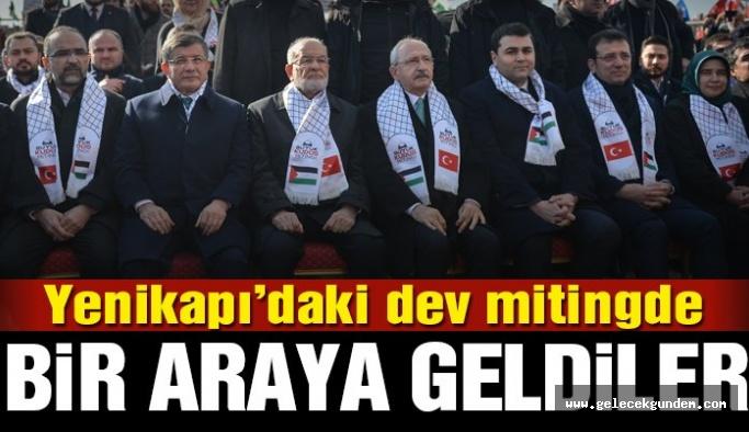 Yenikapı'da Kudüs için buluştular! AKP ve MHP katılmadı!
