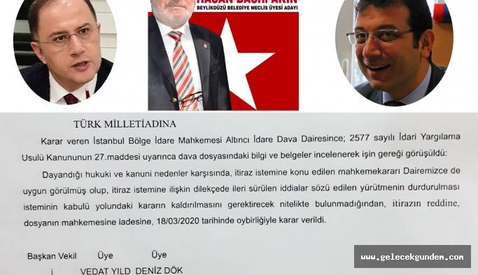 BEYLİKDÜZÜ BELEDİYESİ'NİN PAZAR TAHTASI  RANT OYUNUNA YARGI DUR DEDİ!