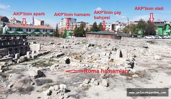 Herşey yıkıldı, O AKP'li başkanın binaları yerinde kaldı!