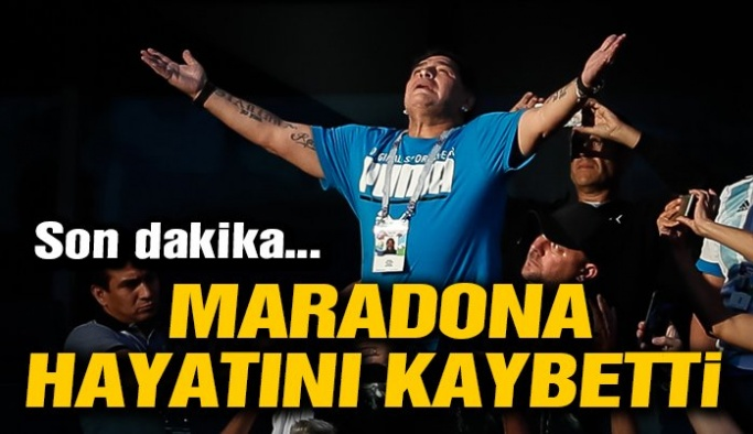 Kalp krizi geçiren Diego Maradona hayatını kaybetti