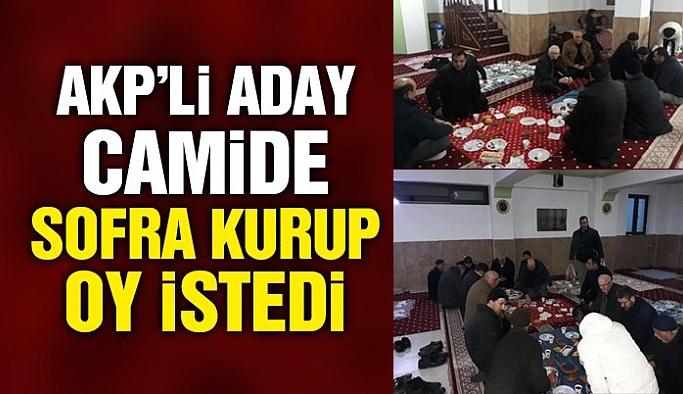 AKP'li aday camide sofra kurup oy istedi