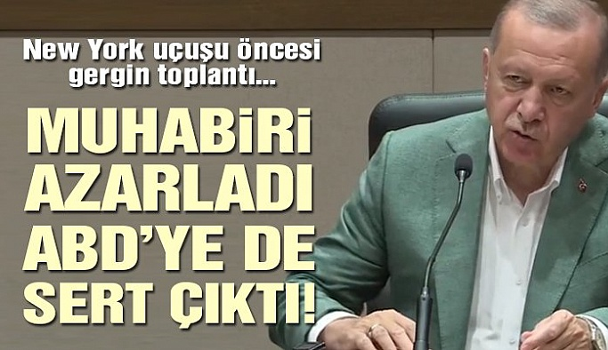 CUMHURBAŞKANI ERDOĞAN FOX TV MUHABİRİNİ AZARLADI