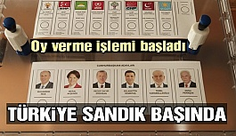 Türkiye sandık başında! Oy verme işlemi...