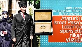 Atatürk'ün Latife Hanım'a taktığı...